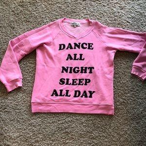 Wildfox Dance All Night Sleep All Day sweatshirt